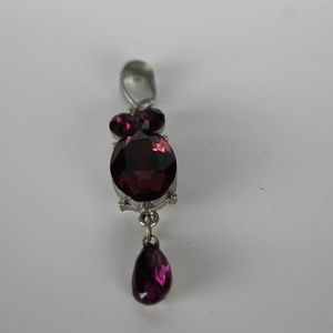 Amethyst Cabochon Pendant, set in Sterling.